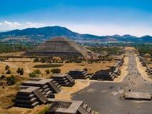 Pirâmides de Teotihuacan Imagem de Stock Royalty Free