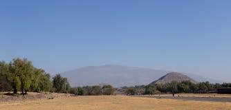 Pirâmides de Teotihuacan, México Imagem de Stock