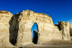 Pirâmides do giz da rocha do monumento Fotografia de Stock Royalty Free