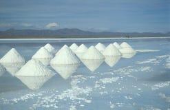 Pirâmides do sal Imagens de Stock