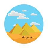 Pirâmides egípcias Ilustração do Vetor