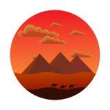 Pirâmides egípcias Ilustração Stock