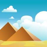 Pirâmides, Egipto ilustração do vetor