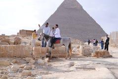 Pirâmides em Egipto Fotos de Stock Royalty Free