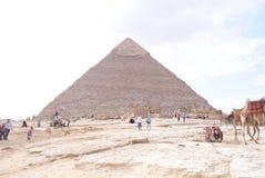 Pirâmides em Egipto Imagem de Stock