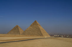 Pirâmides Giza Fotografia de Stock