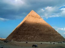 Pirâmides grandes de Egito imagens de stock royalty free