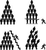 Pirâmides humanas Imagem de Stock