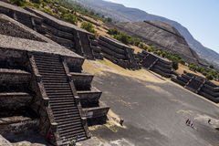 Pirâmides México de Teotihuacan Imagem de Stock Royalty Free