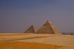Pirâmides no Cairo Imagem de Stock Royalty Free