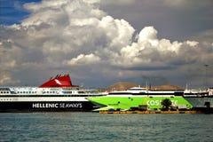 Piräus-Hafen, Attika, Griechenland stockbilder