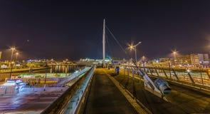 Piräus-Hafen nachts Stockfotos