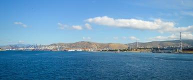 Piräus-Hafen in Saronic-Golf, Athen, Griechenland am 19. Juni 2017 Stockfotografie