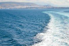 Piräus-Hafen in Saronic-Golf, Athen, Griechenland am 19. Juni 2017 Lizenzfreie Stockfotos