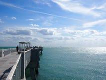 Pir över havet i Miami Royaltyfri Fotografi