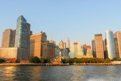 Pir ett hamnhus - New York City Royaltyfri Fotografi