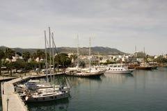 Pir för Aegean hav arkivbilder