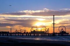 Pir för nöje för Galveston ö historisk Royaltyfri Fotografi