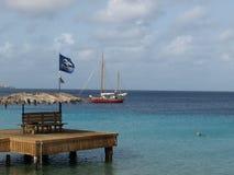 Pir i Bonaire Royaltyfri Bild
