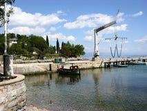 Pir i den Ika byn, Kroatien Arkivfoto