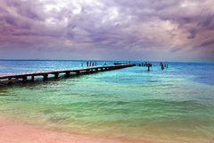 Pir i havet Royaltyfri Fotografi