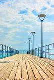 Pir i Limassol arkivbilder
