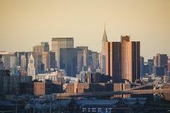 Pir 17 i Manhattan royaltyfria foton