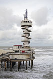Pir i Scheveningen i Nederländerna Fotografering för Bildbyråer