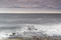 Pir Kullaberg för kust- region royaltyfri fotografi