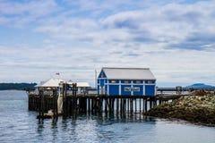 Pir och Boardwalk i Sydney BC Arkivfoto