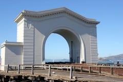 Pir 43 och dess headhouse, San Francisco, Kalifornien, USA Arkivbild