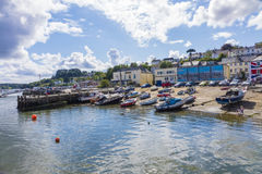 Pir och strand Saltash Cornwall England UK Arkivbild