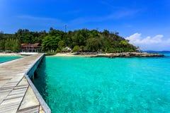 Pir på den Koh Maiton ön, Phuket, Thailand Arkivfoton