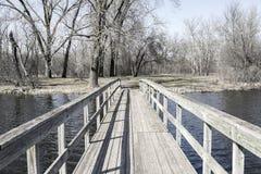 Pir på floden Arkivbilder