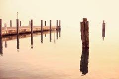 Pir på Garda sjön Arkivfoton