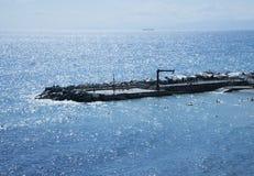 Pir på havet Arkivbild