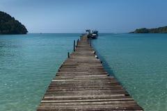 Pir på havet Fotografering för Bildbyråer
