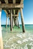 Pir på havet i Florida Royaltyfri Fotografi