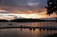 Pir på Kisajno sjön Royaltyfri Bild
