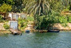 Pir på kusten av Nilet River egypt arkivfoton