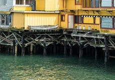 Pir på Monterey, Kalifornien Arkivbild