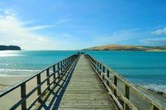 Pir på Omapere, Nya Zeeland Arkivfoto