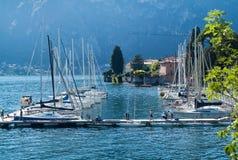 Pir på sjön Como Royaltyfria Foton