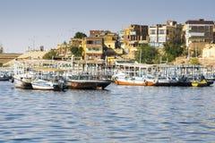 Pir på sjön Nasser, Egypten Royaltyfri Fotografi
