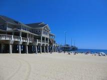 Pir på stranden för huvud för hästkrake` s, North Carolina Royaltyfri Foto