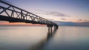 Pir på Tagus River Arkivfoto