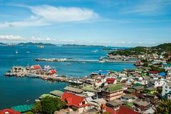 Pir två av den Sichang ön Arkivfoto