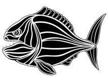 Piraña, tatuaje ilustración del vector