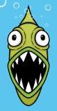 Piraña verde stock de ilustración