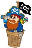 Piraat bij hondhorloge Royalty-vrije Stock Foto